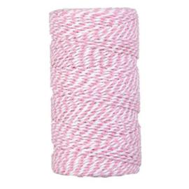 Bakkerstouw | Roze/wit