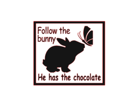 DIY sticker | Follow the bunny