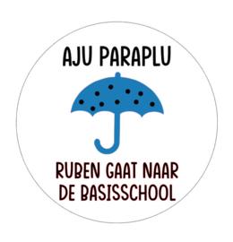 Sticker | Aju paraplu jongen