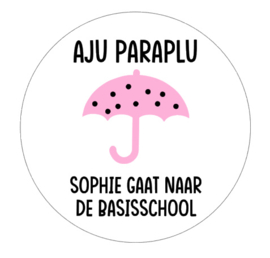 Sticker | Aju paraplu meisje
