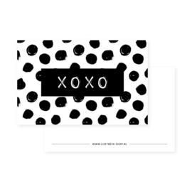 Mini kaartje |  XOXO