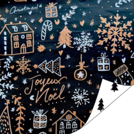 Inpakpapier | Hello  christmas tweezijdig