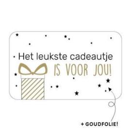 Sticker | Het leukste cadeautje...