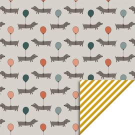 Inpakpapier | Dog stripes