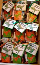 Dino labels en potloodjes