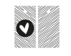 Kadolabel | Heart black and white