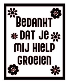 DIY sticker | Bedankt dat je mij ....