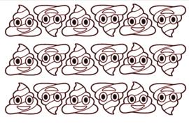 Traktatiestickers | Poop emoji 20 stuks