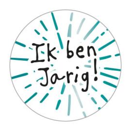 Sticker | Ik ben jarig turquoise