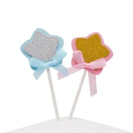 Cupcakeprikker  | Roze ster