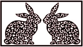 Stickerset | Haasjes panterprint