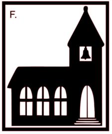 Raamsticker | Kerk F.