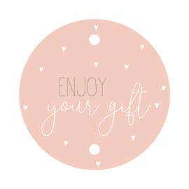 Kadokaartje rond | Enjoy your gift