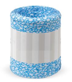Raffia lint | Blauw met wolkjes