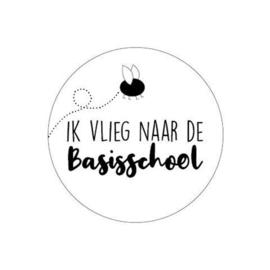 Sticker | Ik vlieg naar de basisschool