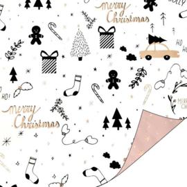 Inpakpapier | Kerst tweezijdig