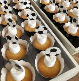 Cupcake wikkels voetbal