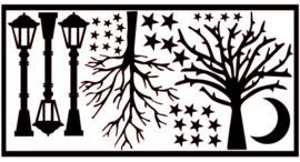 Aanvulset | Bomen, lantarenpalen, maan & sterren