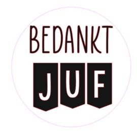 Sticker | Bedankt Juf