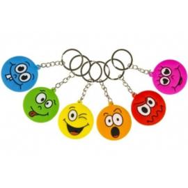 Sleutelhanger | Smiley kleur