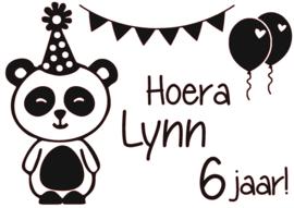 Raamsticker | Verjaardag Panda