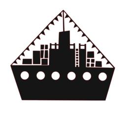 Raamsticker | Stoomboot groot