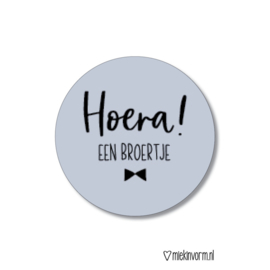 Sticker | Hoera!  Een broertje
