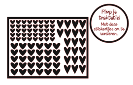Pimp je traktatie | Harten stickers