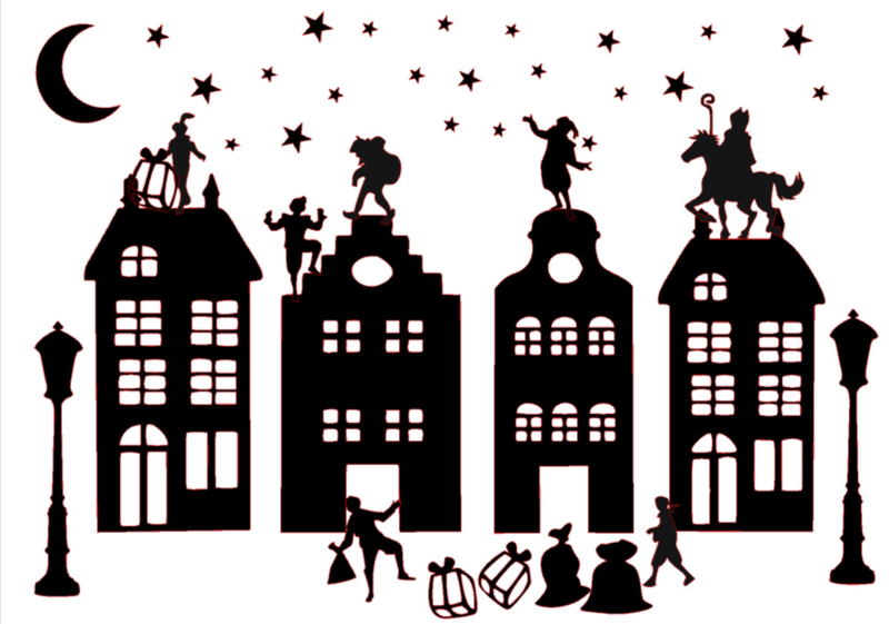 Raamstraatje compleet   Met gratis kerstset