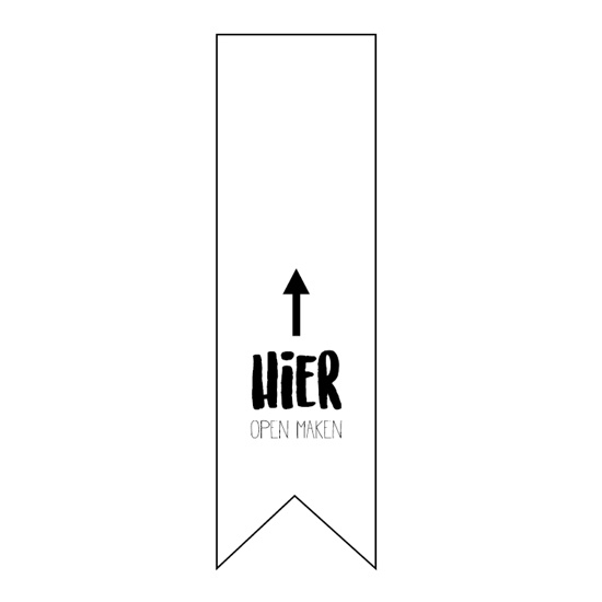 Sticker vaantje | Hier open maken