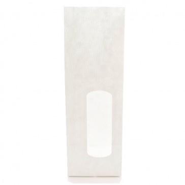 Blokbodemzakje   Kraft met venster wit