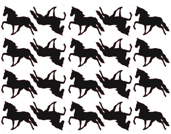 Traktatiestickers | Paard 20 stuks