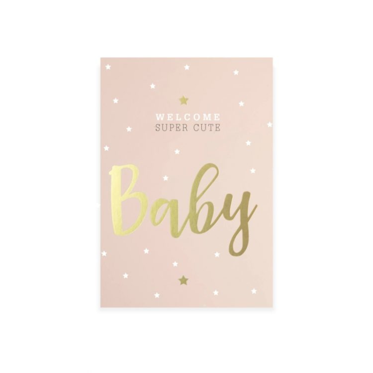 Sticker | Welcome super cute Baby! pink