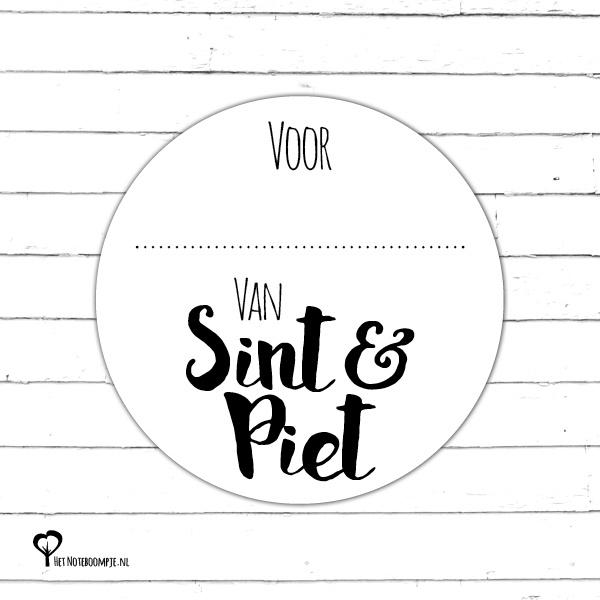 Sticker | Voor..... Van Sint & Piet