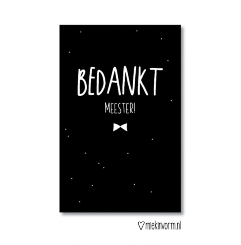 Mini kaartje | Bedankt meester