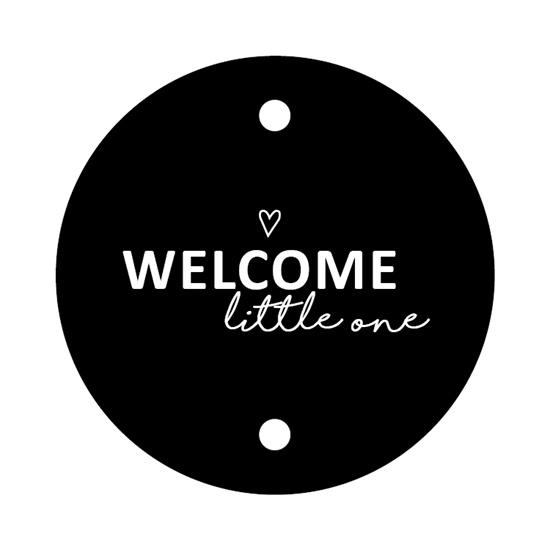 Kadokaartje rond | Welcome little one