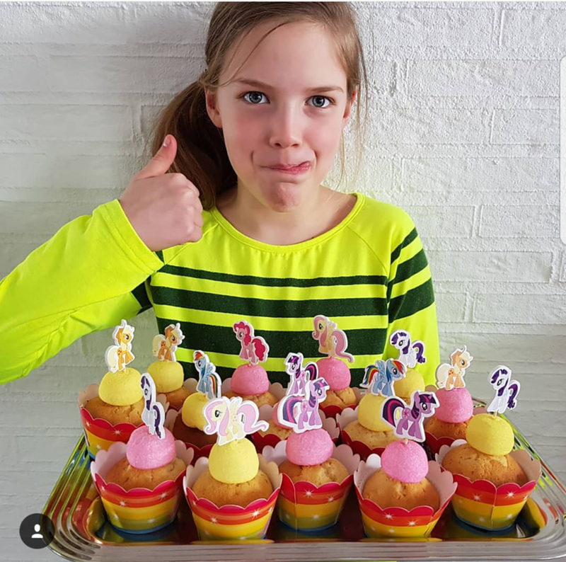 Cupcake wrappers my little pony