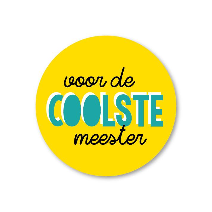 Sticker | Voor de coolste meester