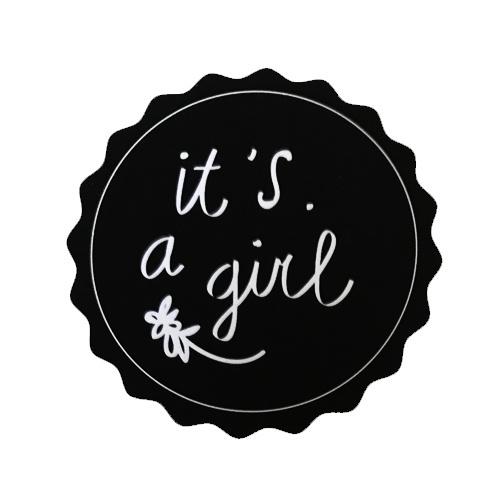 Sticker | it's a girl zwart