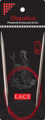 """Rondbreinaalden van roestvrij staal  80 cm - 3.25mm - Red Lace Circular 32""""- US 3"""