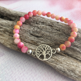 Holi Tree of Life (roze-geel)
