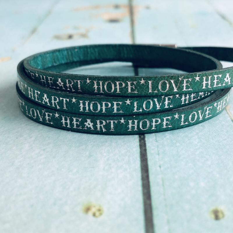 HOPE LOVE HEART (turkoois)