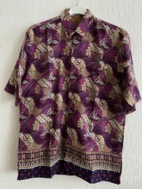 Batik overhemd (L)