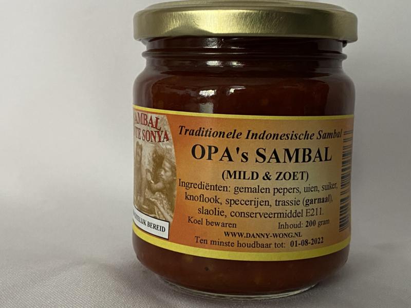 Opa's sambal (mild & zoet)