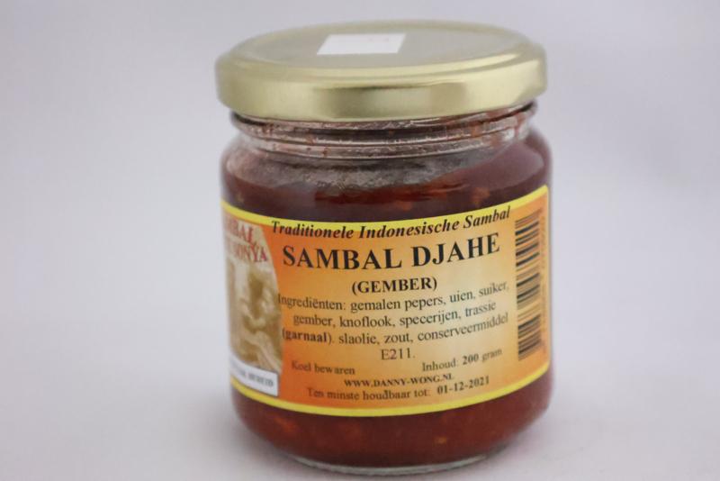 Sambal Djahe (Gember)
