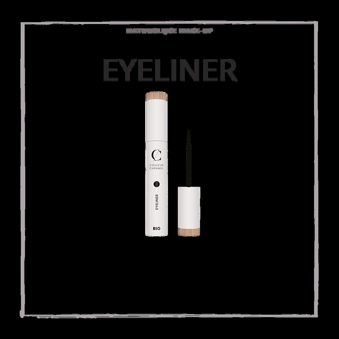 natuurlijke make-up eyeliner CouleurCaramelmakeup.nl