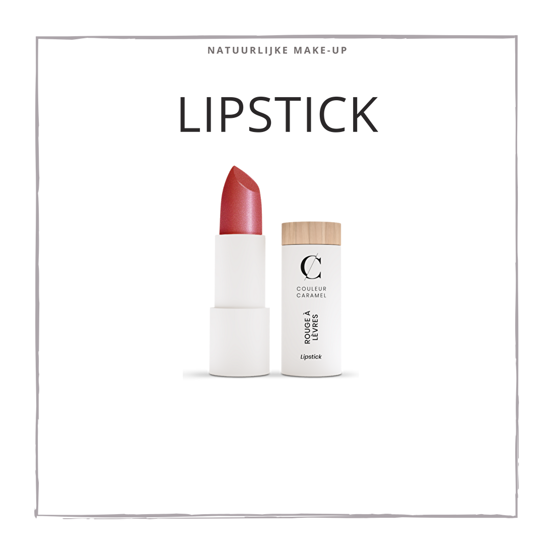 natuurlijke make-up lipstick CouleurCaramelmakeup.nl
