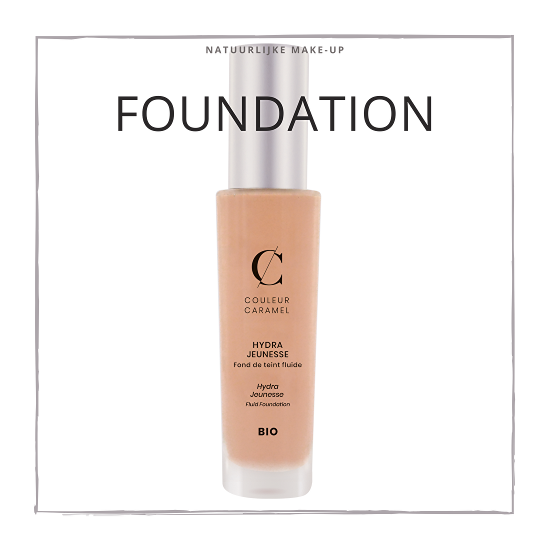 natuurlijke make-up foundation CouleurCaramelmakeup.nl