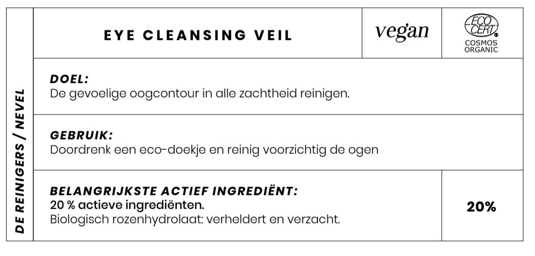 Bio oogmakeup remover Couleur Caramel