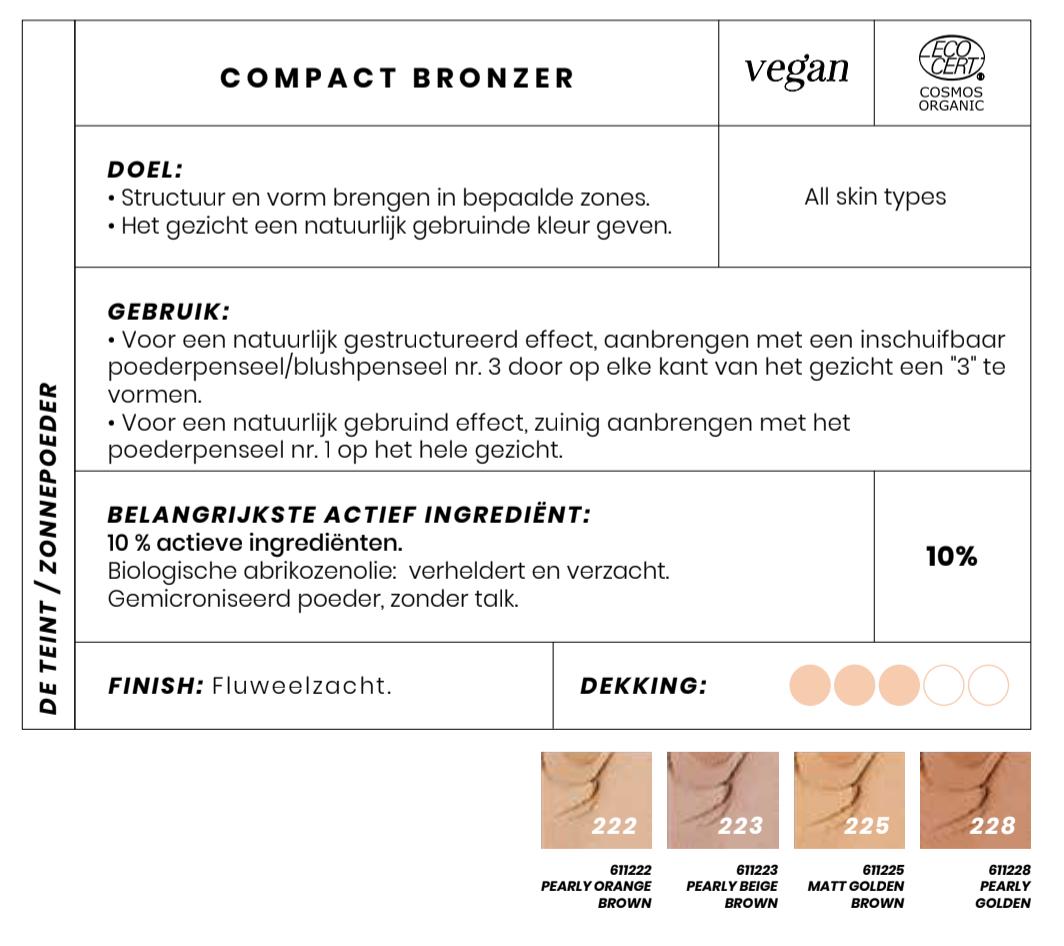 Bio en Vegan Bronzing powder Coeleur Caramel